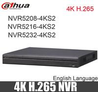 ingrosso dahua channel nvr-DaHua originale 4K Video Surveillance NVR NVR5208-4KS2 NVR5216-4KS2 NVR5232-4KS2 8/16/32 Canali H.265