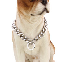 Wholesale chains direct for sale - Group buy Stainless Steel P Chain Mirror Polishing Dog Collars For Walk The Dogs Necklace Outdoor Pet Supplies Factory Direct Sale tg X
