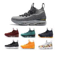 4d4b94b5b HQ mens 15 Basketball Shoes 15s advanced knit gold black dark grey blue  fashion men sneakers basketball tranning boots size 40-46