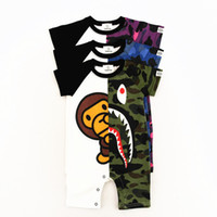 Wholesale size children clothes - Summer New Arrivel Short Sleeved Cartoon Pattern Baby Jumpsuit Casual Comfortable Clothing For Child
