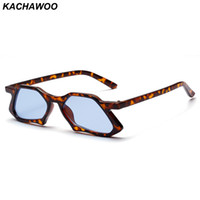 Wholesale glass gift items - Kachawoo vintage polygon sunglasses men 2019 blue leopard high fashion sun glasses for ladies unisex christmas gift items