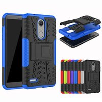 Wholesale armor tire - Impact Tire Armor TPU PC With Kickstand Shockproof Case For LG K8 K10 K30 Aristo2 K10 V20 V30 Stylo LS777 Q6 Plus G7 X Power