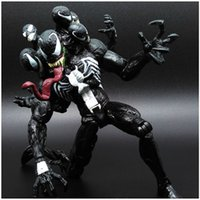 Wholesale cool spider - Hot NEW VENOM 20 CM Spider-Man Villian Comic Cool PVC Toy Action Figure Toys Kids Gift DDA295
