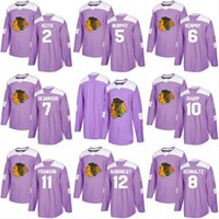 Wholesale Oranges Cancer - 2018 Fights Cancer Jersey 20 Saad 10 Patrick Sharp 88 Patrick Kane 2 Duncan Keith 7 Brent Seabrook Chicago Blackhawks Custom Hockey Jerseys