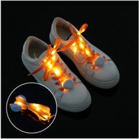 lacets de nylon menés achat en gros de-Lacets de chaussures multicolores 7e génération à LED Nylon lumineux plats lumineux scintillants clignotants clignotants Lacets de chaussures Lacets lacets Lacets