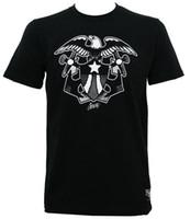 ingrosso camicie di aquila sottile-T-Shirt SAILOR JERRY Tattoo Shield Eagle Slim Fit Nero S-3XL NEW Streetwear Funny Print Abbigliamento Mans T-Shirt Top Tees