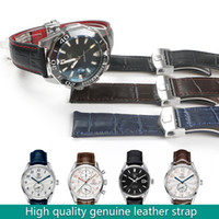 16e0c7f7f Deployment Buckle Clasp Calf Genuine Leather Watch Band Watch Strap for TAG  F1 Watch Man 19MM 20MM 22MM Heuer Black Blue Brown Tools