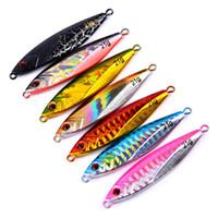 Discount spoons fishing lures - 7PCS Fishing Deep sea Slow Jig Ocean Boat Rock Beach Metal Jigging Jigbait Spoon Lure baits 22g 6.5cm