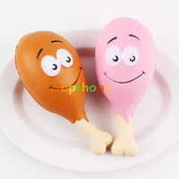 Wholesale cute chicken toys for sale - Jumbo Kawaii Squishy Slow Rising CM Smile Chicken legs Cute Cartoon Phone Straps Sweet Scented Bread Cake Kid Toy Gift Do not eat