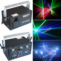 Wholesale Uk Animations - DHL RGB 2000mw 2W full color animation laser Stage Lighting ilda 30-40kpps Red 635nm Beam Disco laser