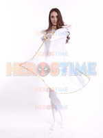 X-Men White Storm Donna Supereroe Costume Zentai Suit Halloween Cosplay per donna / Gril / Donna vendita calda