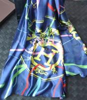 pamuk güneş şal toptan satış-Yüksek Kalite Ünlü tasarım Pamuk Ipek At Eşarp Güneş koruma Moda taşıma Mektup Baskı Ekose Eşarp Şal Wrap 180 * 70 cm