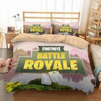 Wholesale 3d piece bedding sets online - Bedding sets Boys Bedding Game Theme Fortnite Bedding Sets D Printed duvet Cover Set Fashion Style Nursery Beddings