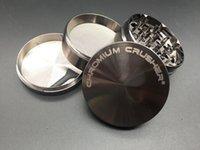 chrom kräuterschleifer großhandel-Metalltabak Kraut Crusher Grinder Zink 63mm 40mm 4layer Tabak Kraut CHROM KREUZER Tabakmühle zum Rauchen trockenes Kraut