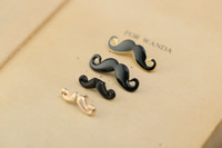Wholesale cheap boys christmas gifts - Fashion Black Moustache Enamel Brooches Pins Small Suit Shirt Collar Lapel Pins Cheap Badge Settings for Men Boy Drop Shipping Wholesale