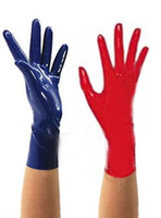 Wholesale Exotic Fashion - 2018 Hot Sale Top Fashion exotic Sexy Lingerie Short Latex Wrist Gloves Women Men Zentai Fetish with no spliced line