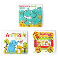 Wholesale learning baby books - Baby Toys Bath Book Bathroom Waterproof Books Baby water Bath Toys With BB Device Swimming Books Toy Kids Early Learning