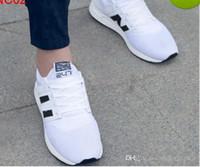 sapatilhas verdes do exército para homens venda por atacado-Novos Homens Low Cut Preto Branco Do Exército Verde Rendas Até Sapatos Casuais Tênis Homens Leve Zapatillas Formadores Equilibrados 36-44