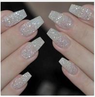 ponta do dedo falso venda por atacado-100 pcs Moda Prego Falso Prego Em Meninas Dedo Beleza Falso Prego Plástico Nail Art Tips Cobertura Completa falso francês nail art dicas