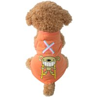Wholesale Orange Cartoon Pictures - armi Cartoon Pictures Dog Shirt Dogs Summer T-Shirts 6171015 Pet Puppy Clothes Supplies XS S M L XL XXL