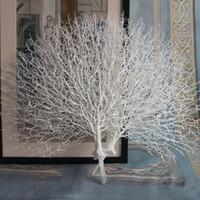 pavo real plastico blanco al por mayor-Híbrido 1 Unids Artificial Peacock Coral Branches Black / White Adorno Photography Props Garden Room Home Decor D4 Plastic
