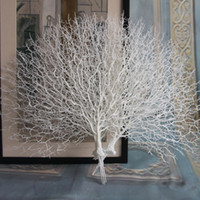 pavé en plastique blanc achat en gros de-Hybride 1 Pcs Artificielle Paon Corail Branches Noir / Blanc Parure Photographie Accessoires Salle De Jardin Décor À La Maison D4 En Plastique