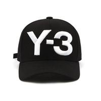 прикольные хип-хоп шляпы оптовых-Мода Y-3 чистый хлопок пик хип-хоп бейсболки вышитые письмо регулируемая Мужчины Женщины Повседневная Snapbacks спорт козырек gorras шляпы