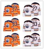 Wholesale Ryan Nugent Hopkins - 2018 Edmonton Oilers new season Jersey 97 Connor McDavid 27 Milan Lucic 93 Ryan Nugent-Hopkins Hockey Jerseys free shipping