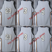 Wholesale Gray Basketball Jersey - Cheap Mens The Land Gray City Edition Jersey Wholesale CavS Grey City Version Throwback Basketball Jerseys Stitched
