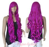 длинный волнистый фиолетовый парик оптовых-Подробная информация о 33