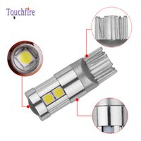Wholesale led brake plate light resale online - 10pcs T10 W5W smd LED License plate Car low beam Lamp width DC v Auto Door position turn signal Parking Clearance light