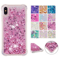 Wholesale cell phone cases for lg for sale – best Bling Bling Liquid Glitter Case for iPhone pro max xr Plus Cell Phone Anti drop Soft Clear TPU Case for iPod Touch7