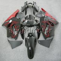 ingrosso corredi zig-zag abs zx12r-23 colori + regali Carena moto rosso nero stampo ad iniezione per Kawasaki ZX12R 2002 2003 2004 2005 2006 ZX-12R kit in plastica ABS