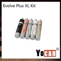 tecnología vape al por mayor-Yocan Evolve Plus XL Kit Wax Dab Vape Pen 1400mah Batería Unique QUAD Coil Technology Vaporizador Diseño con conexión magnética 100% Origina
