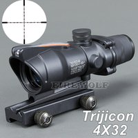 Wholesale new style for sale - Trijicon New Hot sale 4x32 ACOG Style Optical Rifle Scope Magnification Scope For Hunting Free Shipping