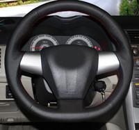 volantes de toyota al por mayor-Estuche de cuero genuino de alta calidad para Toyota COROLLA 2011 RAV4 2012 Car-styling