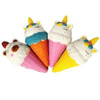 ingrosso gelato dell'orso-Kawaii Unicorn Ice Cream Squishy Super Soft Spremere profumato Strawberry Bear Doll lento aumento Decompression Toy Kids Gift