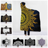 Wholesale cozy soft blankets resale online - Religious Hooded Blankets Styles cm D Printed Lotus Mandala Warm Super Soft Cozy Throw Blanket Wearable Blankets OOA5925