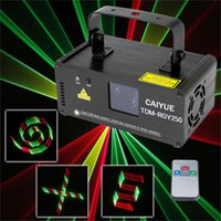 party-scanner beleuchtung großhandel-3D DMX512 Effekte RGY Rot Grün Gelb Laserscanner Projektor Volllicht DJ Disco Party Weihnachten Professionelle Bühnenbeleuchtung Show