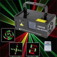 ingrosso scanner di illuminazione-3D DMX512 Effetti RGY Rosso Laser giallo verde Scanner Proiettore Full Light DJ Disco Party Xmas Stage professionale spettacolo di luci