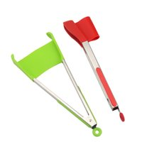 Wholesale silicone kitchen tools online - Wholesales inch Clever Spatula Tong in Non stick Heat Resistant Gadgets Party Decoration Frame Kitchen Accessories Tools Home Decor
