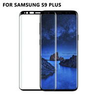 Wholesale Edge Protectors For Shipping - 10 pcs Wholesale 3D Explosion-proof Curved Tempered Glass Screen Protector Film for Samsung Galaxy S9 Plus Free Shipping