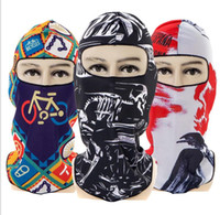 Wholesale bicycle face protection resale online - UV protection bike cycling face mask sports face guard cap bicycle balaclava masks d printing CS mask Tactical Hood