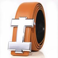 hebilla de jeans de marca al por mayor-Marca de moda Cinturón de Cuero Genuino de Los Hombres Diseñador de Lujo de Alta Calidad H Suave Hebilla Cinturones Para Hombre Para Las Mujeres Cinturón de Lujo Jeans Correa de Vaca