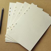 a6 spirale notebook großhandel-80 Blätter / Pack Spiral Notebook Füllstoff Papier Einsätze Refills 6 Löcher A5 A6 Loseblatt Büro Schulbedarf