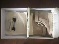 Wholesale Cane Top - FEAR OF GOD Military High-Top Outdoor Boots Sneakers Black Suede Gum Grey Nubuck Boot Fog Jerry Lorenzo Kanye black Nylon running shoes