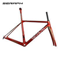 ingrosso struttura bicicletta di2-2018 Disponibile Gravel 700C Carbon Bike Frame, bici SERAPH Thru Axle 142mm Ghiaia Di2 Carbon Cyclocross Frame Disco GR029