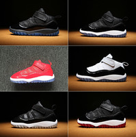 Wholesale euro shoes for sale - 2018 With Box Baby Basketball Shoes S Sneakers for Infant Space Jam Win Like Concord High Youth Size Euro