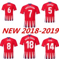 Wholesale homes cost - thai quality Atletico Home away Soccer jersey Diego cost F.TORRES 2018 2019 HOME GRIEZMANN KOKE GABI SAUL CARRASCO Madrid Jerseys shirt