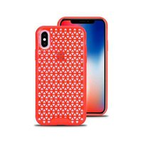 Wholesale 6s mobile phone cases for sale - 2018 new colorful Lattice texture heat radiation air flow design silm shockproof mobile phone back cover protector for iphone x plus